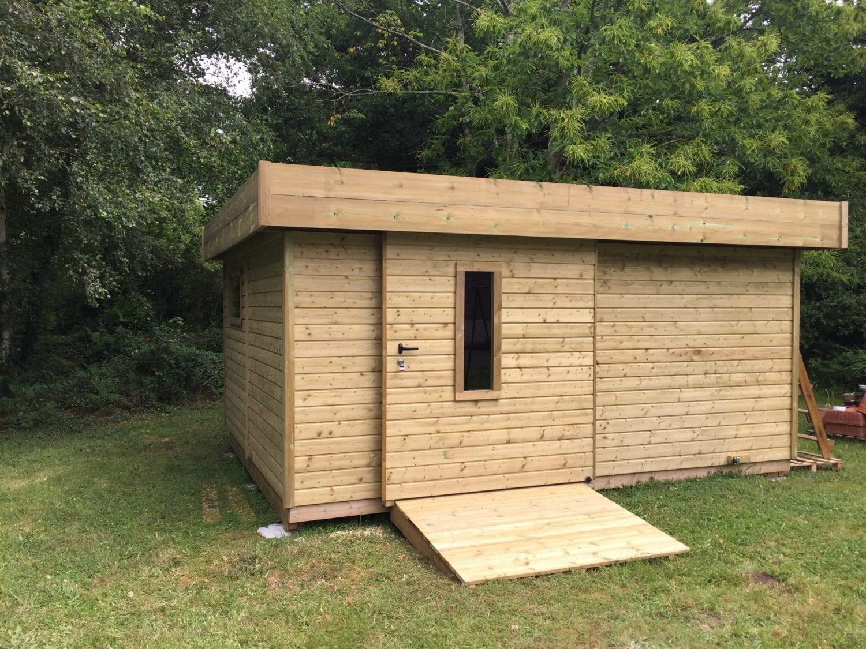 Abri de jardin bois épicéa toit mono pente - Les Abris de l ...