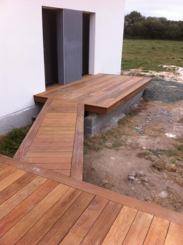 Terrasse En Bois Exotique terrasse et allée en bois exotique - les abris de l'ouest